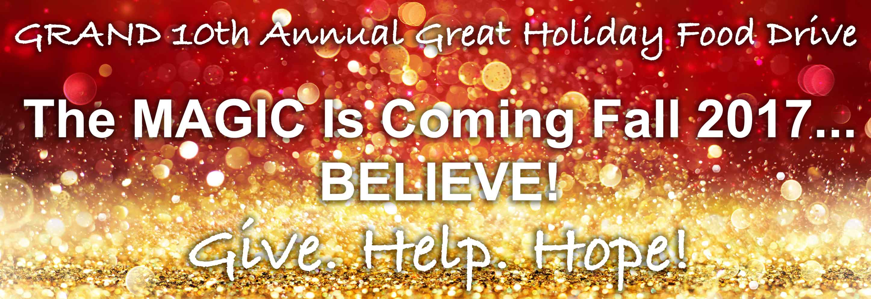 10th Annual Great Holiday Food Drive - A Magical Event Is Coming!